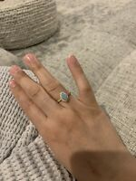 Opal Marquise Ring Size 7.75 Plated
