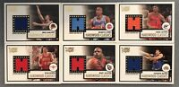 2005-06 Topps Style Basketball Hardwood Classics Lot of 6 Game Worn Jersey Cards