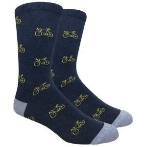 Men's FineFit Black Novelty Socks - Bicycle Navy