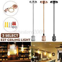 E27 Ceiling Light Bulb Holder Hanging Fitting Vintage Industrial Pendant Lamp