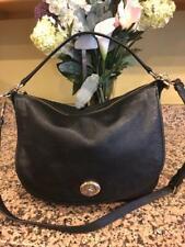 (z) COACH 24771 Black Pebble Leather  Hobo Shoulder Bag $350 (pu160