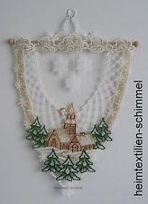 PLAUENER SPITZE ® Fensterbild WINTERLANDSCHAFT Kirche WINTER Sterne WEIHNACHTEN