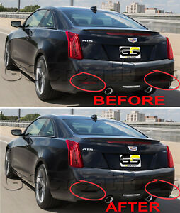 2013+ Cadillac ATS Rear Reflector Blackout Lens Cover Kit