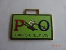 P&O Plow Co Canton Illinois Colored Watch Fob of the Month 27