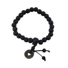 Black Tibetan Coin Bead Bracelet Boho Bohemian Jewellery Gift for Him A043