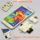3in1 i-FlashDrive USB TF SD Card Reader For iPhone X 8 7 6 Plus SE Android Phone
