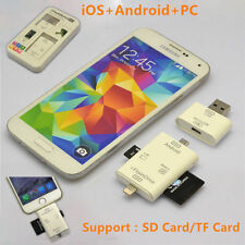 3in1 i-FlashDrive USB TF SD Card Reader Fr iPhone 6 6S Plus SE 5S LG G4 G3 HTC