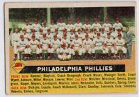 1956 Topps #72 Philadelphia Phillies Fair-VG Robin Roberts Ashburn FREE SHIPPING