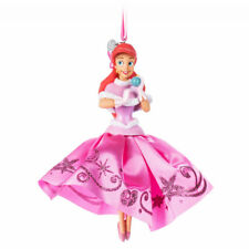 Disney Store Ariel Little Mermaid Pink Holiday Dress Christmas Ornament Figure