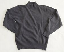 Vintage Cashmere By Pringle Womens Dark Gray Mock Neck SWEATER  38 / 97- Small