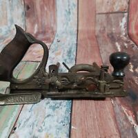 VTG STANLEY NO. 45 COMBINATION PLOW PLANE WOODWORKING TOOL INCLUDES 1 CUTTER