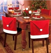 """Red Santa Hat Christmas Chair Covers (21"""" x 20)~Set of 4 Brand New"""