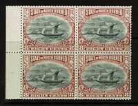 North Borneo SG# 102 Purple Brown BK of 4 Mint Never Hinged Perf 14 - S9935