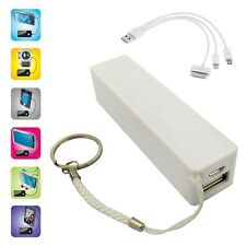 MINI BATTERIE DE SECOURS USB POUR TELEPHONE IPHONE IPOD APPLE 2000 mAh BLANC