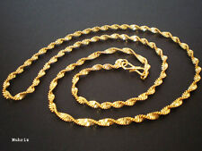 """Indian 22K GOLD PLATED Women Chain Necklace Lady /R01 /22"""" Long"""