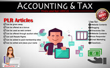 350+ PLR Articles on Accounting and Tax Niche Private Label Rights
