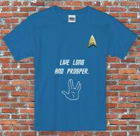 Live Long and Prosper Star Trek Spock T Shirt S - 2XL