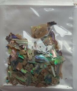 Paua Green  Abalone Shell Flakes  Mermaid Nail Art / Inlay / Mosaics or Craft #3