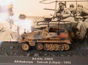 PANZER SD KFZ 250/5 AFRIKAKORPS TOBRUK LYBIA 1942 1/72 CHAR TANK ALTAYA