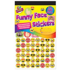 500 Funny Face Stickers Birthday Party Sticker Bag Emoji Stocking Filler Kids