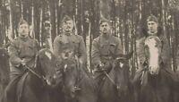 WW1 BELGIAN CAVALRY WAR HORSES ANTIQUE PHOTO RPPC POSTCARD