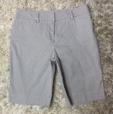 Jones New York Women's Bermuda Shorts Striped Stretch Tan White Size 6P