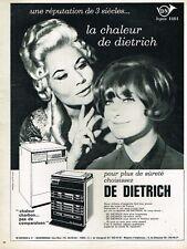 G- Publicité Advertising 1965 Poele à Charbon De Dietrich avec Marlène Dietrich