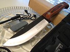Elk Ridge Bushcraft Pakkawood Survival Hunter Bowie Knife Fire Starter Stone 555