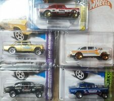 Lot of 5 Hot Wheels 1955 '55 Chevy Gasser New All Mint & Come in Protecto Pak