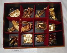 "DANBURY MINT ""1995 GOLD ORNAMENTS, COMPLETE SET OF 12 IN BOX"" 23KT, EUC!"