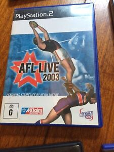 AFL live 2003, PS2, Playstation 2, complete, tested, good condition