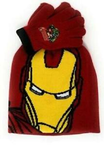 Boys Avengers Iron Man Hat And Gloves Sets