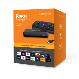 Roku Premiere HD 4K HDR TV Streaming and Remote with Netflix & Disney+ App