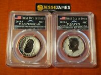 2019 S REVERSE PROOF KENNEDY APOLLO 11 HALF DOLLAR SET PCGS PR70 FIRST DAY ISSUE