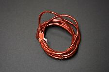 """1 Yard 1/16"""" Red Small Mylar Minnow Tubing Piping Fly Tying"""