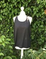 New Balance Sports Running Gym Vest Top Black Size Large **Fast Dispatch**