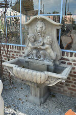 FONTAINE MURALE  ANGES PIERRE RECONSTITUEE