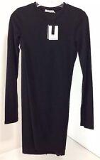 NWT ALEXANDER WANG MOHAIR JERSEY LONG SLEEVE DRESS W/TWIST DRAPE SMALL $250