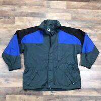 Vintage 90s Columbia Jacket Mens XL Full Zip Up Hooded Rain Ski Coat Retro USA