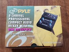 Pyle 3 Channel Professional Portable Audio Interface  PAD10MXU USB Mixer-