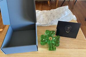 Waterford Crystal Irish Spring Green Shamrock Paperweight