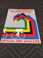 """Coors International Bicycle Classic 1982 Magazine W/ Poster """"COORS CLASSIC"""" NOS"""