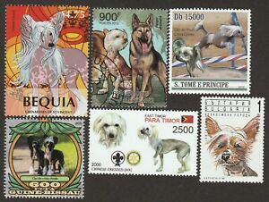 CHINESE CRESTED ** Int'l Dog Postage Stamp Art Collection ** Great Gift Idea **