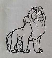 sticker roi lion mufasa