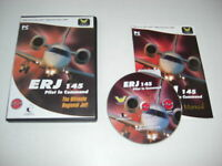 ERJ 145 Pilot In Command Pc Cd Rom Add-On Flight Simulator Sim 2004 FS2004