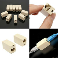 5 PCS RJ45 Female to Female Network Ethernet Lan Cable Cat Joiner Connector H7X0