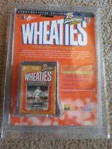 BABE RUTH Mini Wheaties 1999 - 75 Years Champions 24K NEW IN PACKAGING