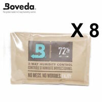8 x Boveda 72% RH 2-way Humidity Control - Large 60 gram Size FREE DELIVERY