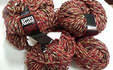 Tweed Wool Acrylic Mohair Silk Blend Yarn  Anny Blatt 50g Fils 5 Balls Vintage