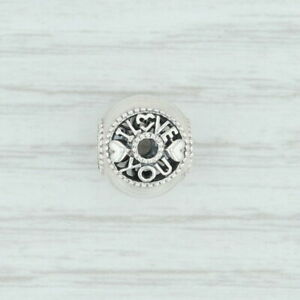 New Authentic Pandora Talk About Love Charm 796601 Sterling Silver Bead